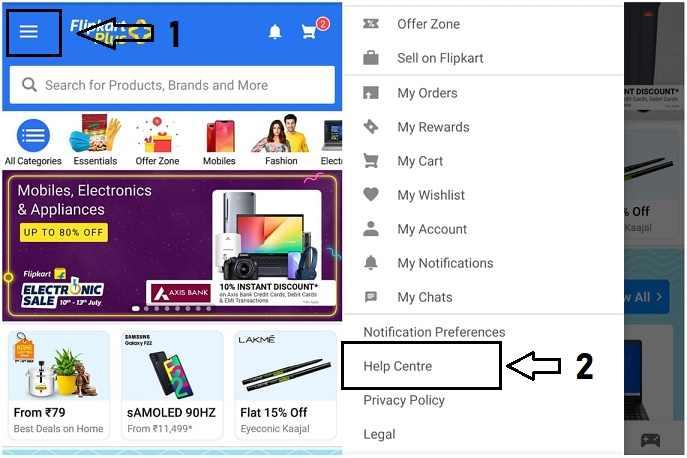 फ्लिपकार्ट कस्टमर केयर नंबर mobile app
