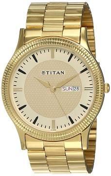 Titan Analog Gold Watch