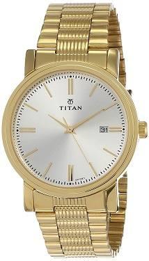 Titan Analog Offwhite Dial Watch