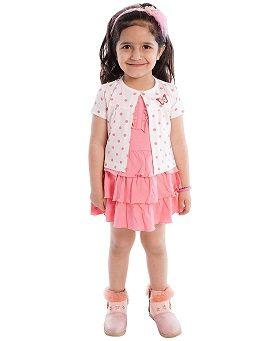 Orange Orchid Baby Girl's Dress