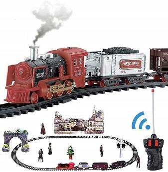 Train And Track Set With Real Smoke