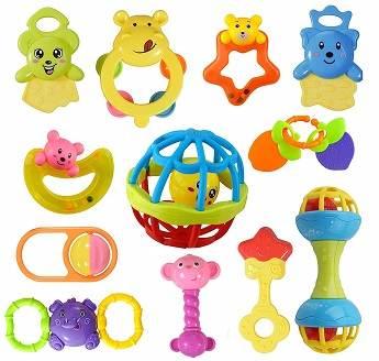 Wishkey Pack Of 12 Baby Toys
